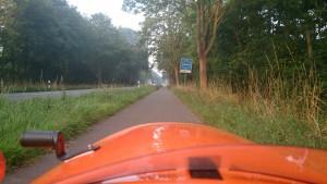 På vej ind i Holland