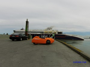 Strada og Color line på Hirtshals Havn.