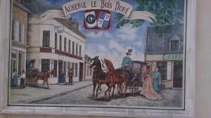 Le Bois Dore Mosaik på væg