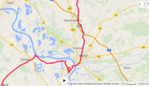 Tyskland Rhein broen og Wesel problemer