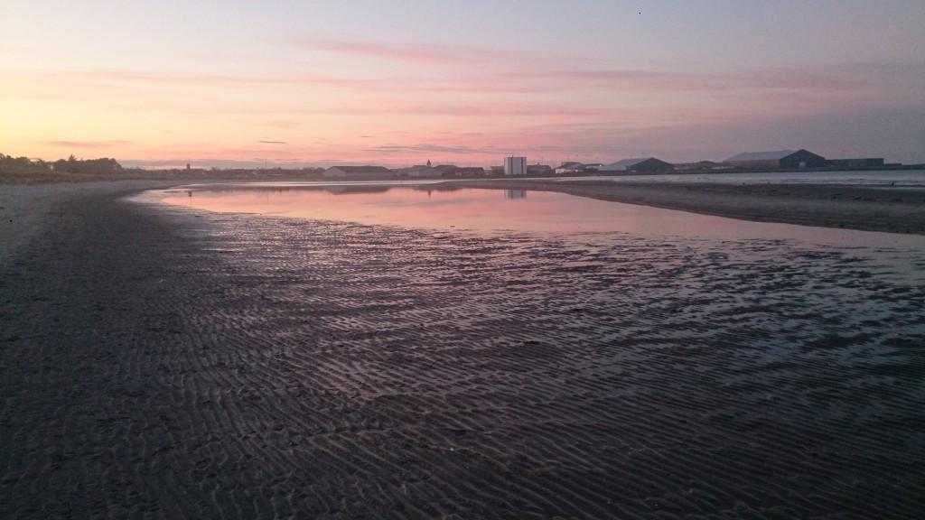 Stranby Strand aften i marts