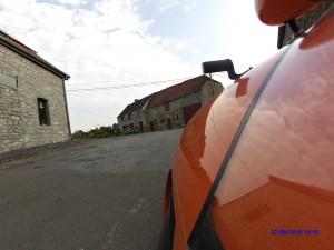 Belgisk gård nær grænsen til Frankrig