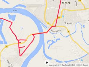 Omkørsel problemer Rhein Broen