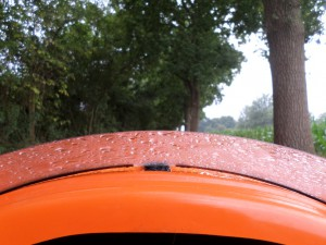 Lille sti og regn