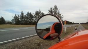 Skagen og sol i bakspejlet
